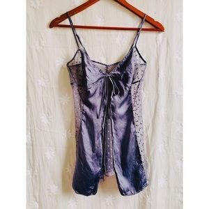 Victoria's Secret Open Front Silk Lavender Slip